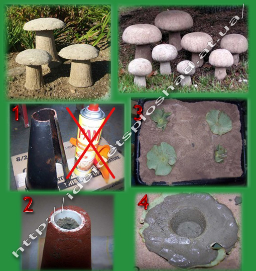 Поделки из цемента для сада своими 6