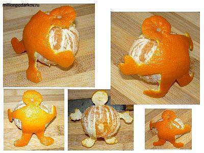 Поделки из мандарина своими руками