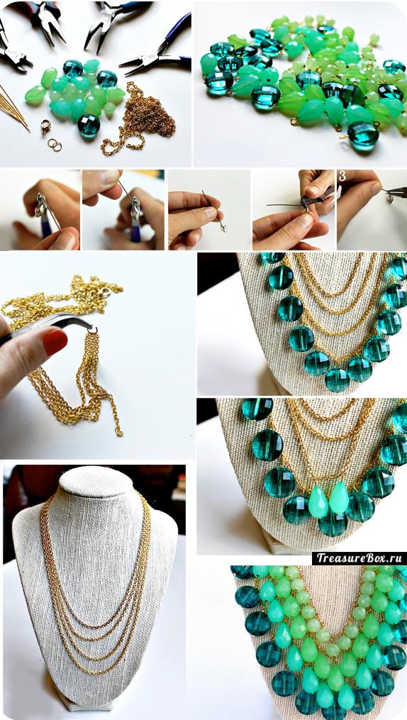 Ожерелья своими руками фото