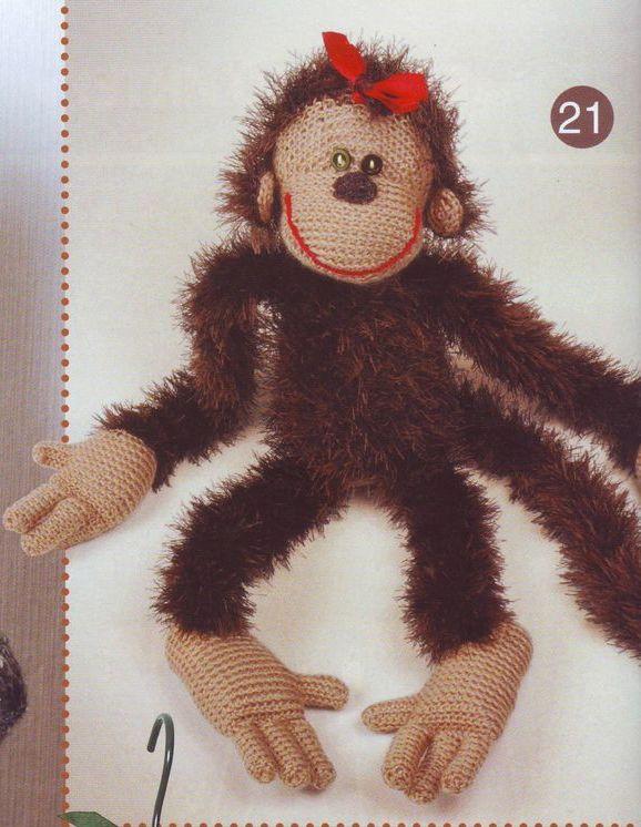 Вяжем обезьянку своими руками на новый год