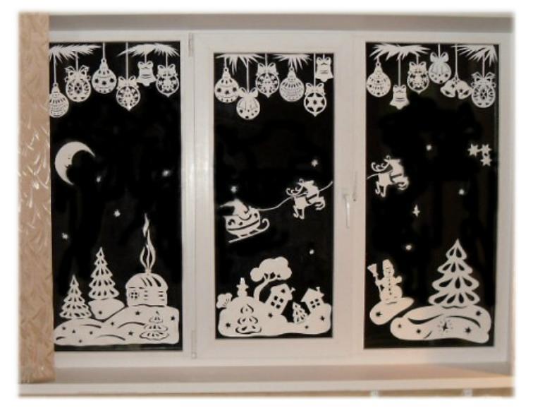 Узоры на стекле своими руками новогодние