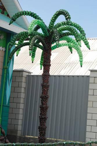 пальма своими руками из пластмассовых бутылок фото и инструкция