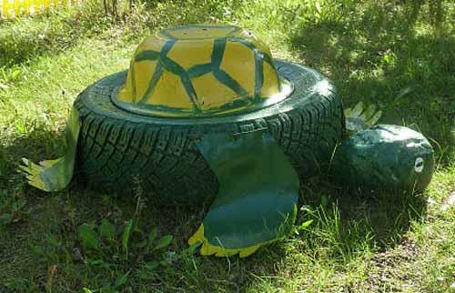 Черепаха из колес
